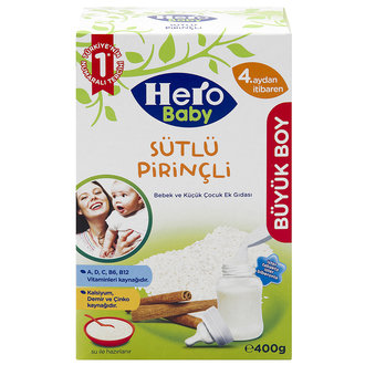 Hero Baby Sütlü Pirinçli Ek Besin 400G