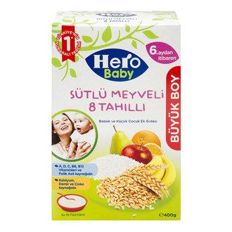 Hero Baby Sütlü 8 Tahıllı Meyveli Ek Besin 400 G