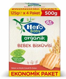 Hero Baby Organik Bebek Bisküvisi 500 G