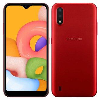 Samsung Galaxy A01 16Gb Kırmızı Cep Telefonu
