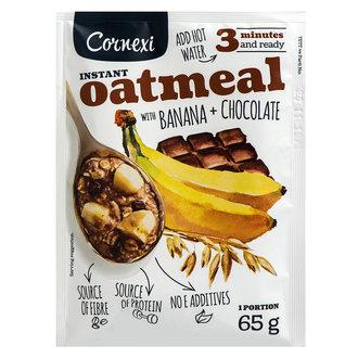Cornex Çikolata Ve Muz Parçalı Yulaf Ezmesi 65 G