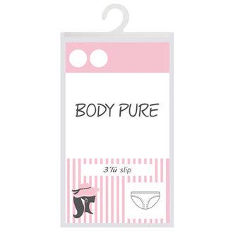 Body Pure Kadın 3'Lü Düşük Bel Slip Beyaz S