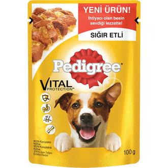 Pedigree Yavru Köpekler Biftekli Pirinçli 100 G