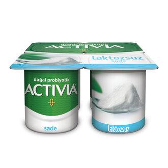Activia Probiyotik Laktozsuz Sade Yoğurt 4X100 G