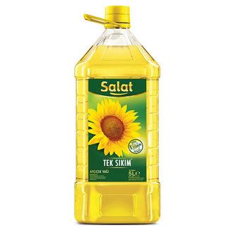 Salat Ayçiçek Yağı 5 L Köşeli Pet Şişe