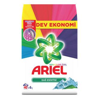 Ariel Dağ Esintisi Renkliler 40 Yıkama 6 Kg
