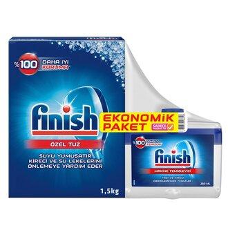 Finish Tuz 1,5Kg + Finish Makine Temileyici 250 Ml