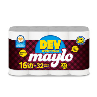 Maylo Dev Rulo Tuvalet Kağıdı 16'lı
