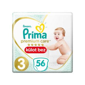 Prima Premium Care Külot Bez İkiz Paket 3 Beden 56'lı