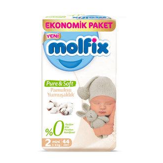 Molfix Pure&Soft Bebek Bezi Mini 44'lü Eko Paket
