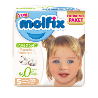 Molfix Pure&Soft Bebek Bezi Junior 22'li Eko Paket