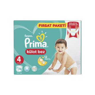 Prima Külot Bez Fırsat Paketi 4 No 9-15 Kg 74'Lü