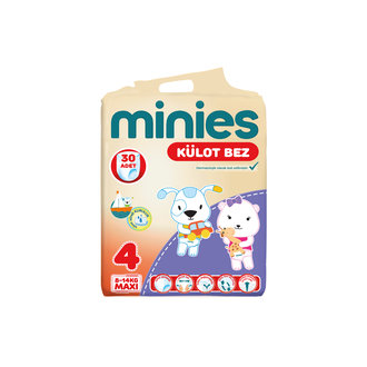 Minies Külot Bez 4 Numara 8-14 Kg Maxi 30 Adet