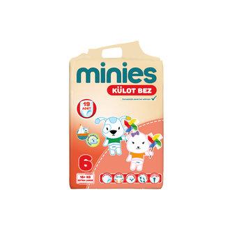 Minies Külot Bez Extra Large 6 Numara 19 Adet