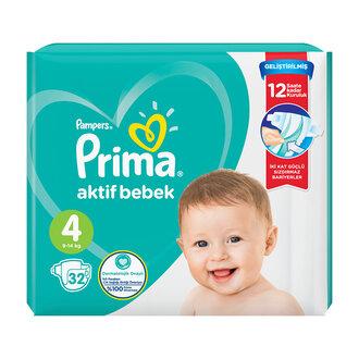 Prima Aktif Bebek Standart Paket 4 No Maxi 32'li