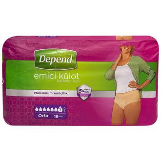 Depend Emici Külot Kadın Orta Eko Paket 18'Li