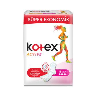 Kotex Active Süper Ekonomik Uzun 18'li