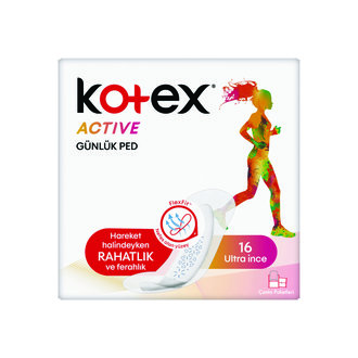 Kotex Active Ultra İnce Günlük Ped 16'Lı