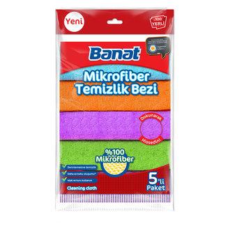 Banat Renkli Mikrofiber Temizlik Bezi