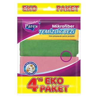 Parex Mikrofiber Temizlik Bezi 4'Lü Eko Paket