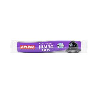 Cook Ultra Dayanıklı Jumbo Boy Çöp Torbası 10 Adet