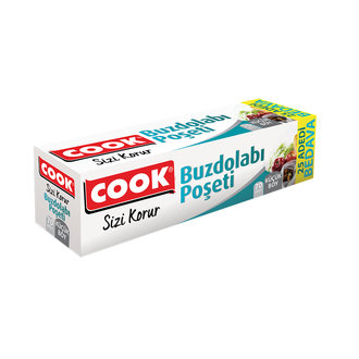 Cook  Buzdolabı Poşeti Küçük Boy 70'Li 25 Adet Bed