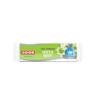 Cook Orta Boy Çöp Torbası  Elma Kokulu 15 Adet