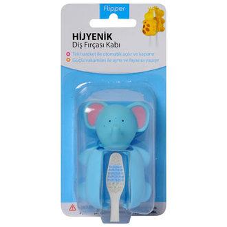 Flipper Hijyenik Bebek Diş Fırçası Kabı