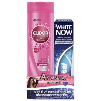 Elidor Güçlü Parlak Şampuan + Signal White Now Macun