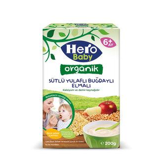 Hero Baby Organik Buğdaylı Yulaflı Elmalı 200 G
