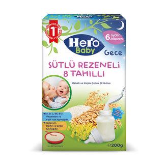 Hero Baby Sütlü 8 Tahıllı Rezeneli Ek Besın 200 G
