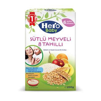 Hero Baby Sütlü 8 Tahıllı Meyveli Ek Besin 200 G