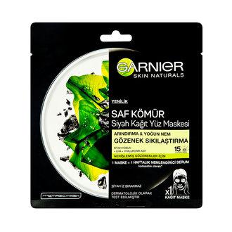 Garnier Saf Kömür Gözenek Sıkılaştırıcı Kağıt Maske