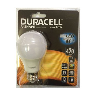 Duracell Led A60-e27  5.5W (40W) Sarı