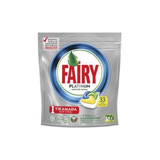 Fairy Platinum Bulaşık Makinesi Deterjanı Kapsülü Limon Kokulu 33 Yıkama