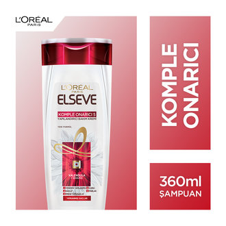 Elseve Komple Onarıcı 5 Yıpranmış Ve Cansız Saçlar İçin Şampuan 360 Ml