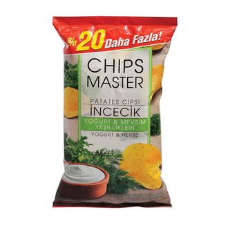 Chips Master İncecik Yoğurt Ve Mevsim Yeşillikleri Patates Cipsi Parti Boy 177 G
