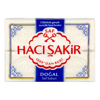 Hacı Şakir Doğal Beyaz Kalıp Sabun 4X150 G
