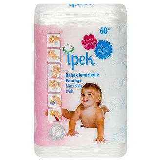 İpek Bebek Temizleme Pamuğu 60'Lı