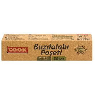 Cook Doğada Çözünür Buzdolabı Poşeti Orta Boy 30'lu